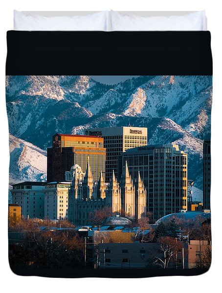 Salt Lake City Utah Usa Duvet Cover