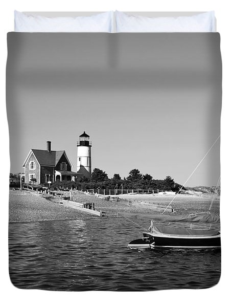 Duvet Cover featuring the photograph Sandy Neck Lighthouse by Charles Harden