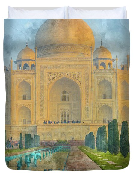 Taj Mahal In Agra India Duvet Cover
