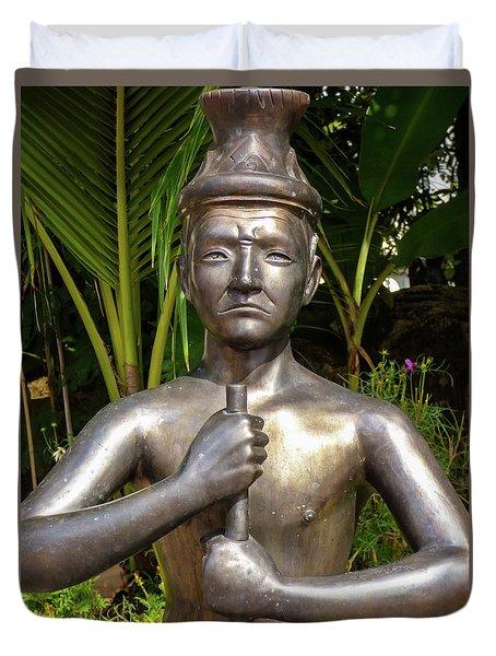 Thai Yoga Statue At Famous Wat Pho Temple Duvet Cover