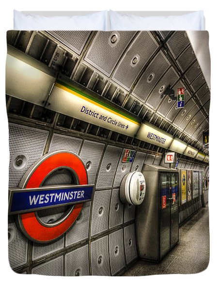 Underground London Duvet Cover by David Pyatt