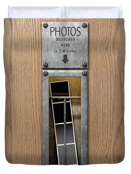 Vintage Photo Booth Pickup Slot Duvet Cover