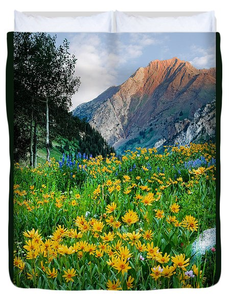 Wasatch Mountains Duvet Cover