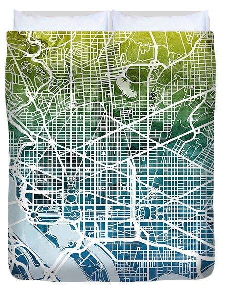 Washington Dc Street Map Digital Art By Michael Tompsett