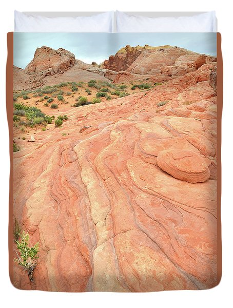 Duvet Cover featuring the photograph Wave Of Color In Valley Of Fire by Ray Mathis