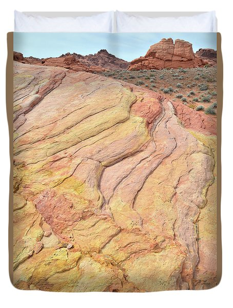Duvet Cover featuring the photograph Waves Of Color In Valley Of Fire by Ray Mathis