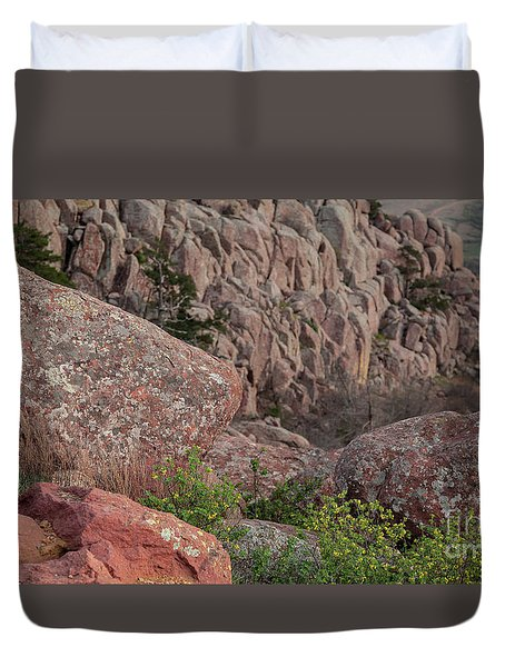 Duvet Cover featuring the photograph Wichita Mountains by Iris Greenwell