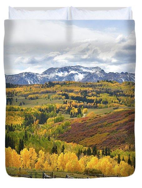 Wilson Mesa Ranch Loop Road Duvet Cover