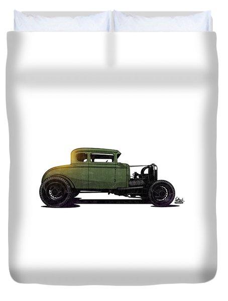 5 Window Hot Rod Duvet Cover