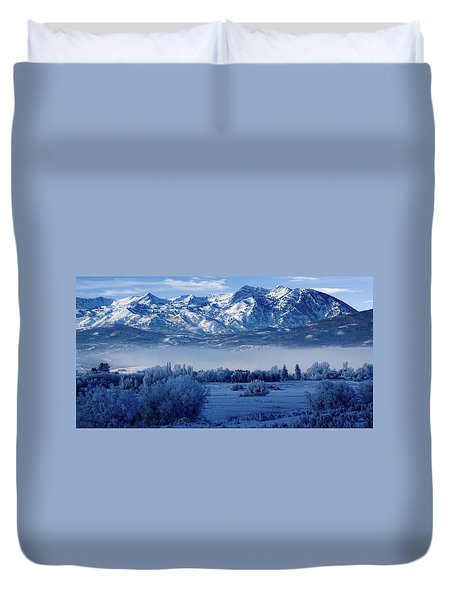 Winter In The Wasatch Mountains Of Northern Utah Duvet Cover