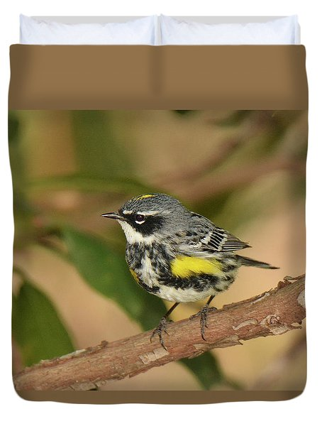 Yellow-rumped Warbler Duvet Cover