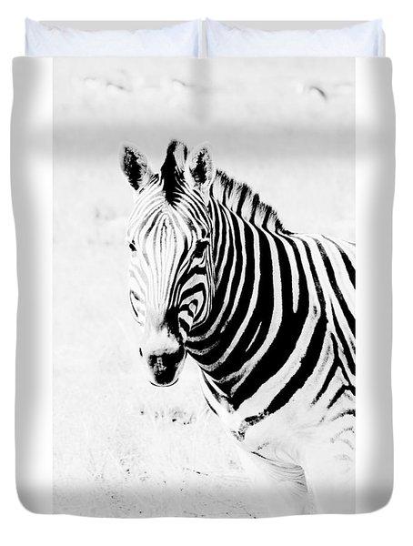 Duvet Cover featuring the photograph Zebra Art by Werner Lehmann