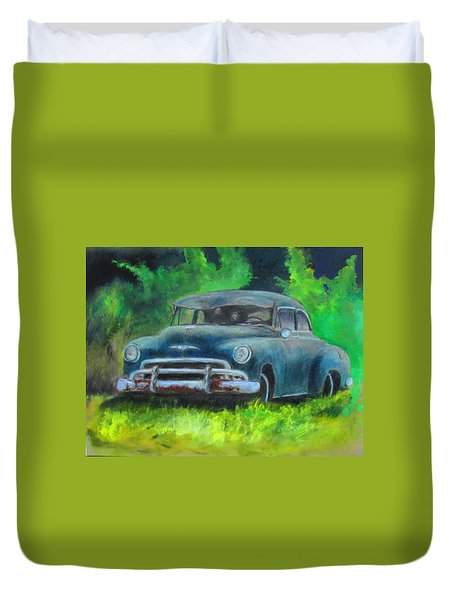 50 Chevy Duvet Cover
