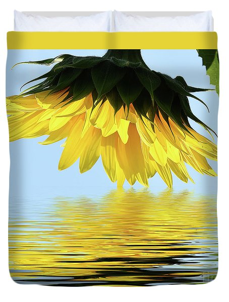 Nice Sunflower Duvet Cover by Elvira Ladocki