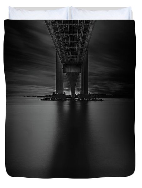 Duvet Cover featuring the photograph 50 Shades Of Verrazano by Edgars Erglis