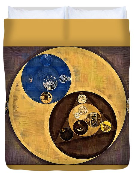 Duvet Cover featuring the photograph Abstract Painting - Zinnwaldite Brown by Vitaliy Gladkiy