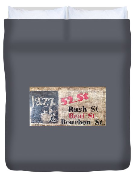 52nd St Jazz Duvet Cover