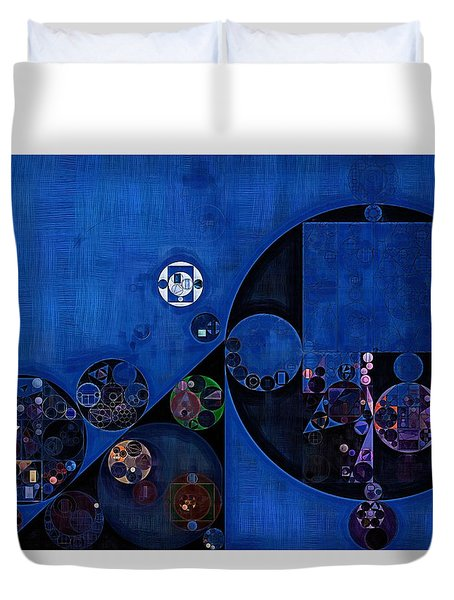 Duvet Cover featuring the digital art Abstract Painting - Onyx by Vitaliy Gladkiy