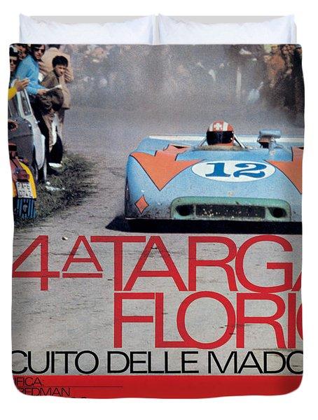 54th Targa Florio Porsche Race Poster Duvet Cover