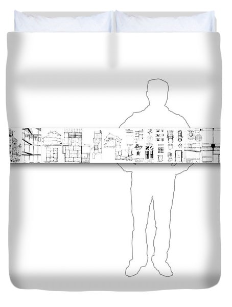 5.5.japan-2-horizontal-with-figure Duvet Cover