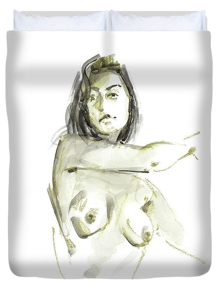 Duvet Cover featuring the drawing Rcnpaintings.com by Chris N Rohrbach