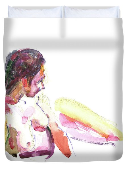 Duvet Cover featuring the painting Rcnpaintings.com by Chris N Rohrbach