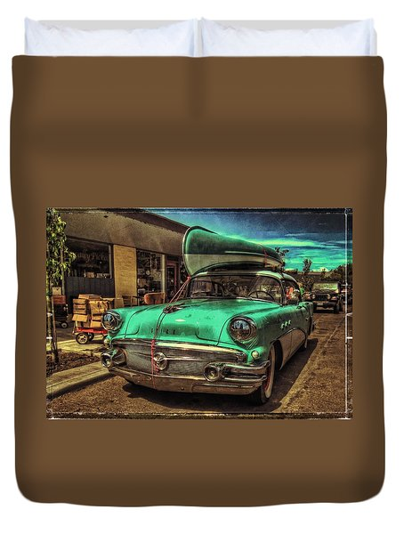 57 Buick - Just Coolin' It Duvet Cover