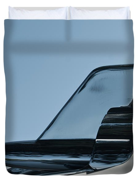 57 Chevy Belair Hood Rocket 2 Duvet Cover