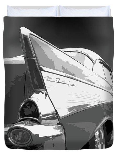 57 Chevy Horizontal Duvet Cover