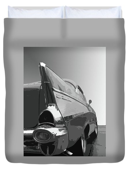 57 Chevy Verticle Duvet Cover