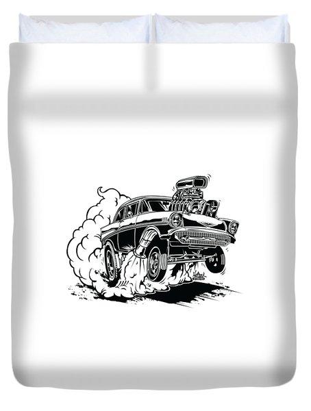 '57 Gasser Cartoon Duvet Cover