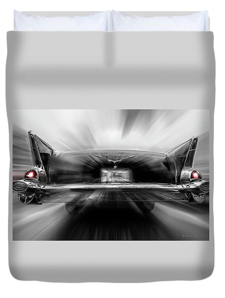 57' Taillights Duvet Cover