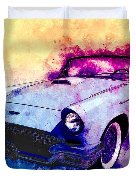 57 Thunderbird Watercolour Duvet Cover