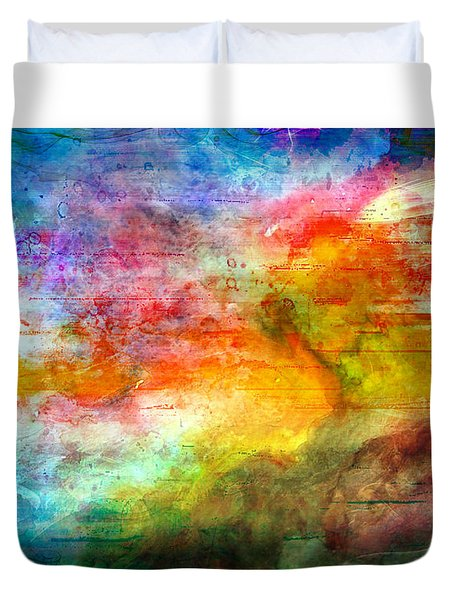 5a Abstract Expressionism Digital Painting Duvet Cover