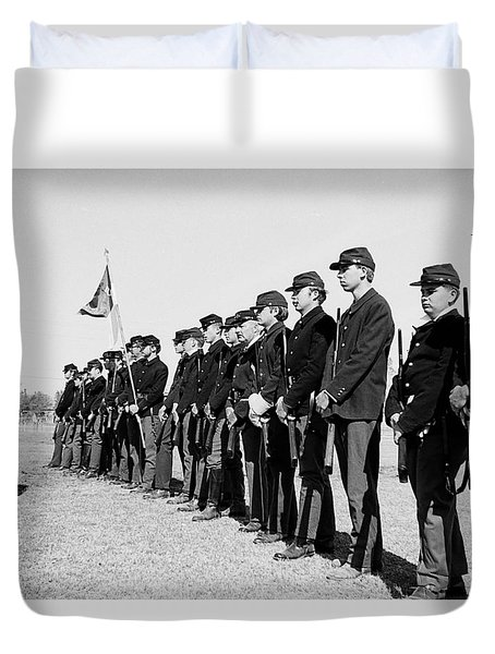 5th Memorial Cavalry Indian Wars Memorial Encampment Ft. Lowell Tucson 1970 Duvet Cover