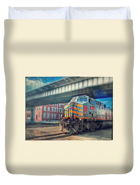5th Street Bridge Duvet Cover by Dustin Soph