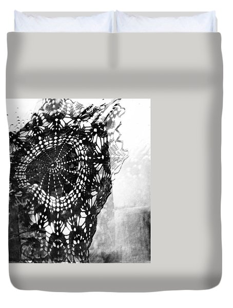 Duvet Cover featuring the photograph Issue  by Danica Radman