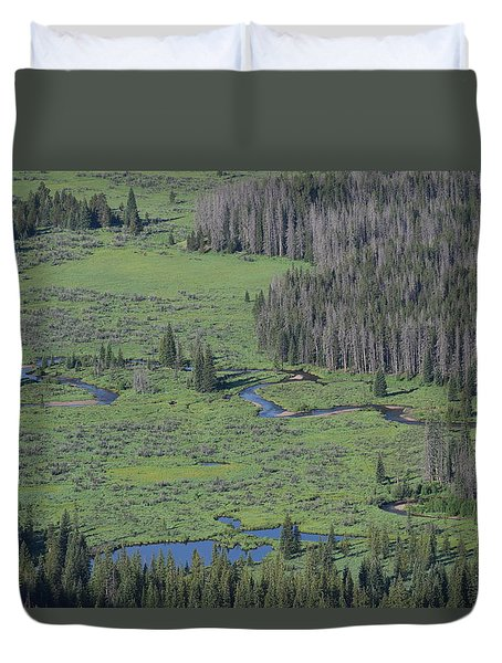 Scenery Rocky Mountain Np Co Duvet Cover