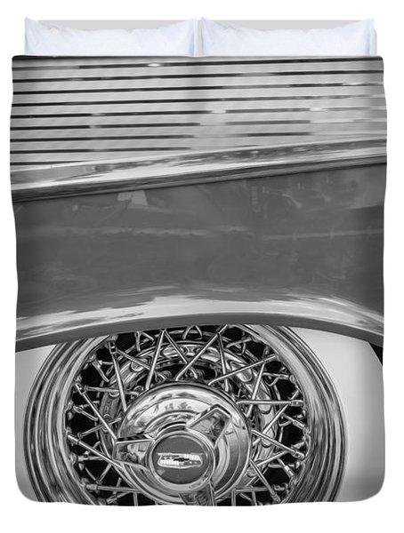 1957 Chevrolet Bel Air 283 Painted Bw  Duvet Cover