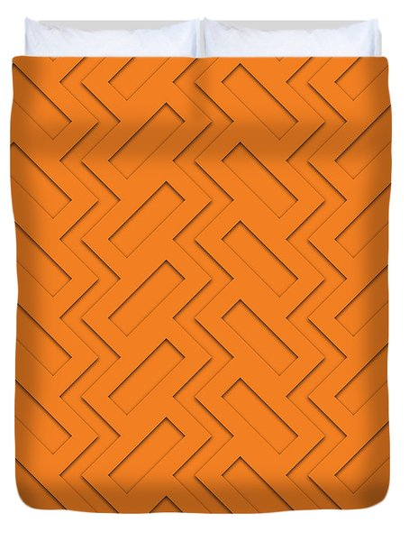 Abstract Orange, White And Red Pattern For Home Decoration Duvet Cover