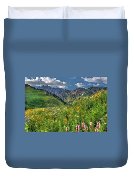 Albion Basin Wildflowers Duvet Cover