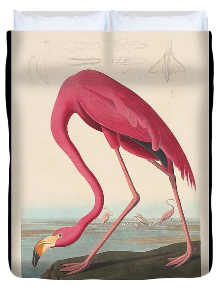 American Flamingo Duvet Cover