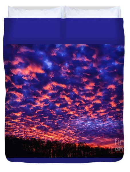Duvet Cover featuring the photograph Appalachian Sunset Afterglow by Thomas R Fletcher