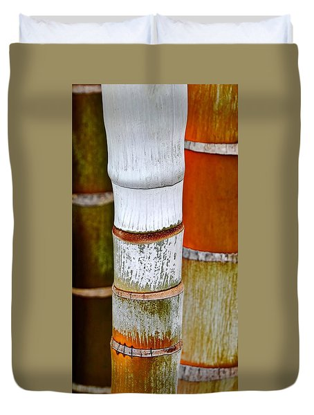 Duvet Cover featuring the photograph Bamboo Palm by Werner Lehmann