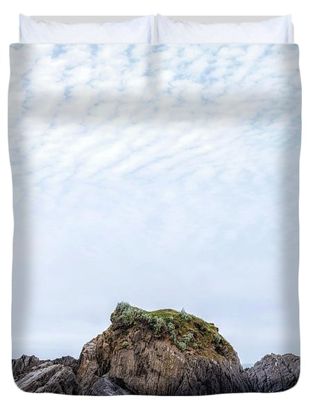 Barricane Beach - England Duvet Cover