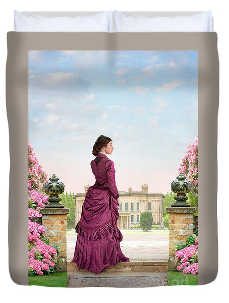 Beautiful Victorian Woman Duvet Cover