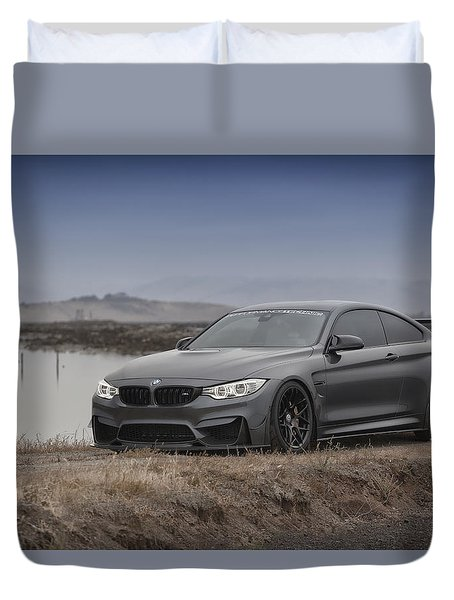 Duvet Cover featuring the photograph Bmw M4 by ItzKirb Photography