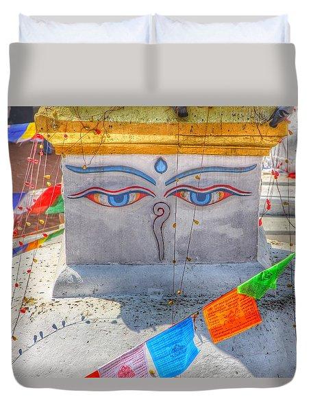 Boudhanath Duvet Cover