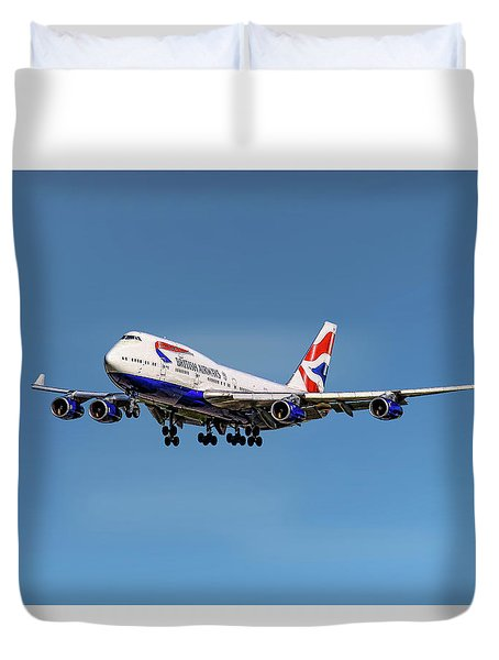 British Airways Boeing 747-400 Duvet Cover