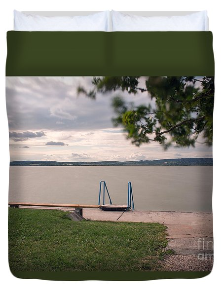 Duvet Cover featuring the photograph Calm by Odon Czintos